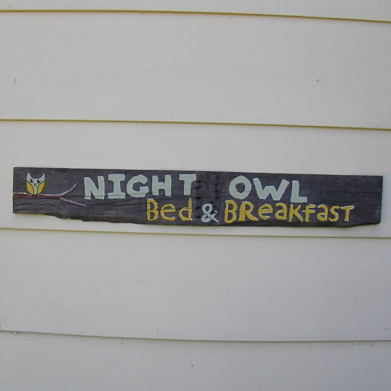 Bed And Breakfast Sign Owl Bed And Breakfast Sign