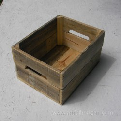 Natural Reclaimed Wood Crate Primitive Folk Art Rustic Farmhouse Decor Storage Wooden Bin Box