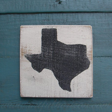 State Sign Texas Rustic Painting Shape Decor Primitive Folk Art Reclaimed Wood Customize State Color